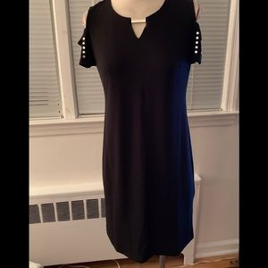 NWT JM COLLECTION STUDDED BLACK DRESS MP